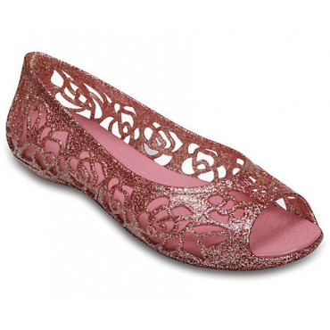 202603 Crocs Isabella Glitter Flat GS