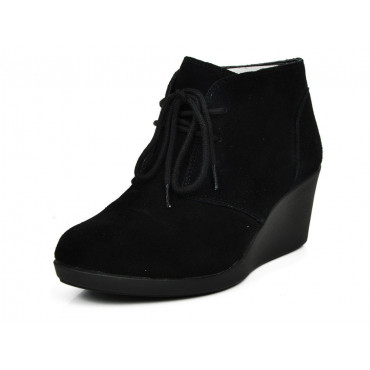 203419 Leigh Suede Wedge Shootie -Γυναικεία
