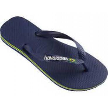 4110850 Navy Sandals Brazil Logo unisex