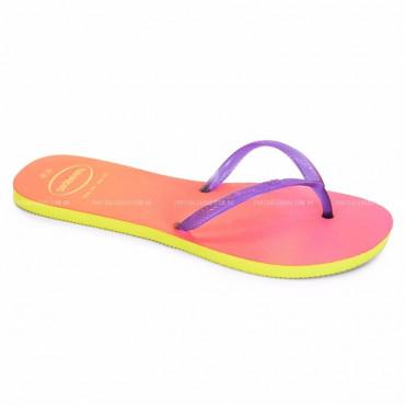 4130425 H.FL SUNSET CF yellow/purple WOMEN