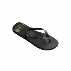 4132585 Black Sandals Stripes Logo Ανδρικές