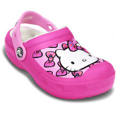 15086 CC Hello Kitty Bow Lined Clog